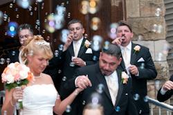 Walking through bubbles