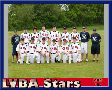 LVBA Team 15u 2009 Team Web