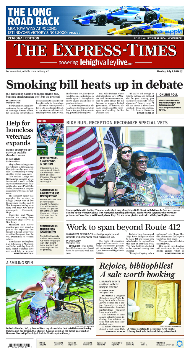 Front Page 2014-07-07 EET monday_pa